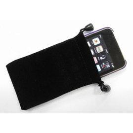 手機/平板/導航 布袋/手機套/布套/保護套 (10X17CM) 黑 [ABO-00009]