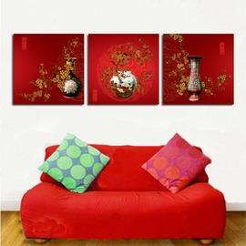 古典大方喜慶秀氣系列裝飾畫�椈彌噩e無框畫 客廳臥室無框畫.jpg
