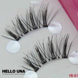 Hello Una假睫毛 ~EF000063~HS~51日系半截睫毛10副╱盒 半截上睫毛