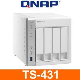 QNAP 威聯通 TS~431~4Bay  1.2G雙核  512M~雲端 NAS 儲存伺