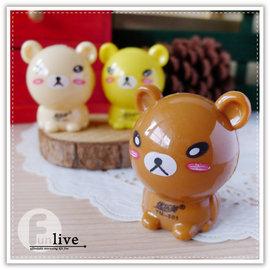 【Q禮品】B2846 小熊削鉛筆機/可愛造型 療癒小物 簡易型削鉛筆器/色鉛筆/木頭鉛筆/辦公文具用品/贈品禮品