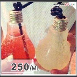 創意居家多功能燈泡造型飲料杯 玻璃瓶 花器 250ML【HH婦幼館】