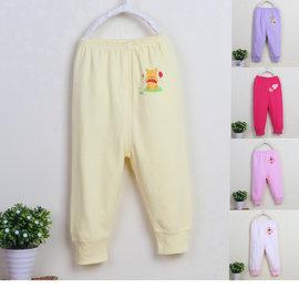 ^~^~阿布 ^~^~~W1125~小童 多花色柔軟純棉束口小褲子長褲70 80 90 9