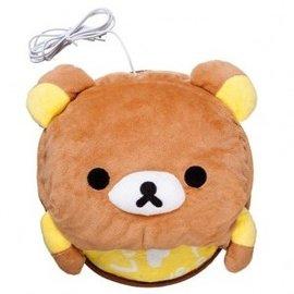 卡通發熱暖手鼠標墊 可愛憨熊我們會優先發主圖的產品,購買時如需指定顏色圖案請下訂單時訂單附
