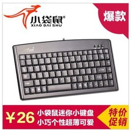 小袋鼠DS~3000 88鍵迷你小鍵盤PS2USB接口筆記本鍵盤工業鍵盤正品