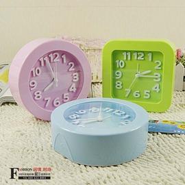 K1111 BS2048立體數字鬧鐘 簡約糖果色 桌面時鐘 懶人大鬧鐘