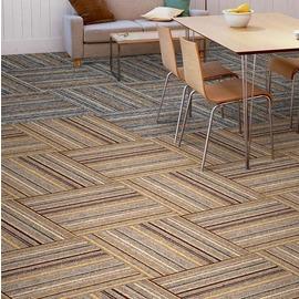 辦公室條紋方塊地毯 寫字樓會議室加厚高檔塊狀地毯