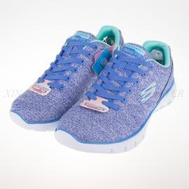 6折出清~Skechers  FLEX WEST-END 慢跑鞋-紫/粉綠-12134PERI