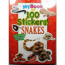 英文 貼紙書 My book of 100 stickers mdash Snakes 1