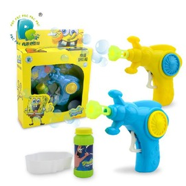 海綿寶寶慣性泡泡槍 兒童玩具泡泡槍 慣性吹泡泡機安全環保