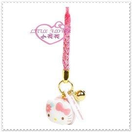 小花花 ~ Hello Kitty 凱蒂貓 手機吊飾 鈴鐺吊飾 包包掛飾 陶瓷 小豬花系列