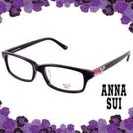 ANNA SUI 安娜蘇 立體鑲鑽 光學方框^(紫^) AS521767