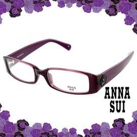 ANNA SUI 安娜蘇 低調立體雕花 光學框^(紫^) AS509751