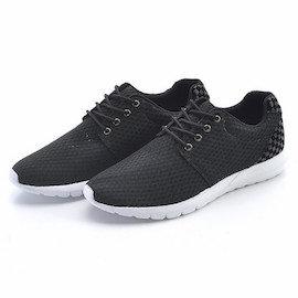 LUXPLAY~男款 鞋 韓國APM 與線條的 對話 方格紋拼接與洞洞布超透氣休閒鞋^(R