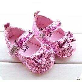 ^~^~阿布 ^~^~~A0112~粉色亮晶晶蝴蝶結寶寶鞋 學步鞋 嬰兒鞋 螃蟹車鞋11