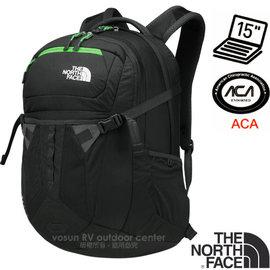 【美國 The North Face】新款 RECON 抗撕裂多功能後背包31L(YKK拉鍊+求生哨_電腦書包_可容15吋筆電_美國脊椎協會認證) CLG4 瀝灰/氪綠