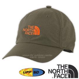 【美國 The North Face】新款 HORIZON BALL CAP 超輕透氣耐磨抗UV棒球帽(吸濕排汗_防風遮陽帽)防曬帽/抗紫外線 CF7W 灰咖啡