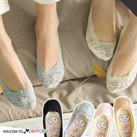 女士超薄蕾絲花邊淺口隱形襪 矽膠防滑襪 船襪【HH婦幼館】