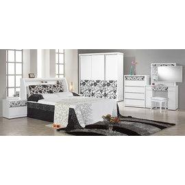 ~尚品傢俱~JF~049~A 威爾納白色被櫥雙人床組^(不含衣櫃.床墊^)