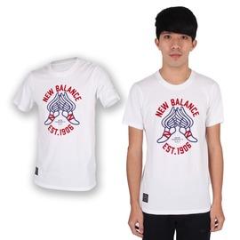 NEW BALANCE 男短袖T恤(NB 紐巴倫 上衣 慢跑 路跑 休閒【03312230】≡排汗專家≡