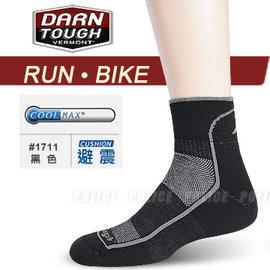 【美國 DARN TOUGH 】VERMONT COOLMAXR 1/4 SOCK MESH 跑步.自行車系列透氣專業運動短襪/戶外襪.排汗襪.休閒襪.登山_黑色 #1711