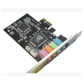 新竹市 8738 PCI-E 5.1立體聲 6聲道 3D電腦音效卡/卡拉OK/獨立內置音效卡/K歌聲卡 **免驅動**