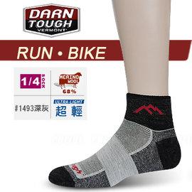 【美國 DARN TOUGH 】女 VERMONT MERINO WOOL 1/4 SOCK MESH 慢跑.單車系列襪子/美麗諾羊毛襪.雪襪.滑雪.登山_深灰色 #1493