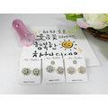 ~~100^%韓國 ~氣質晶鑽花朵耳環~三色 淡粉 水藍 湖水綠 珍珠 水晶~韓國新品~