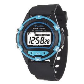 JAGA捷卡~M267~AE^(黑藍^)輕巧多 電子錶