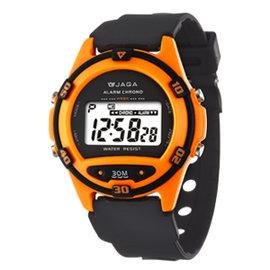 JAGA捷卡~M267~I^(橙^)輕巧多 電子錶