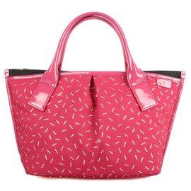 正品~專櫃品牌 Agnes b ~ 金蔥三層水餃包 手提包 托特包 ^(紅色~小^) 在台