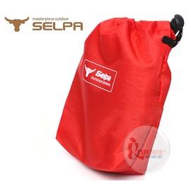 探險家戶外用品㊣NTF25 SELPA尼龍束口袋防潑水收納袋 紅色-15x10x4cm 裝備袋雜物袋小袋分裝袋