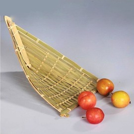 青竹舟竹籃子 收納竹籃 純 小簸箕果盤 果籃 竹編工藝品