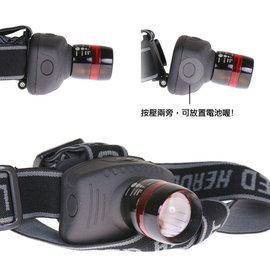 【Q禮品】A2862 CREE3段式LED頭燈-B版/NG出清/三段式頭戴燈/帽燈/頭燈/手電筒,爆亮CREE 燈泡,巡守隊夜遊保全釣魚適用