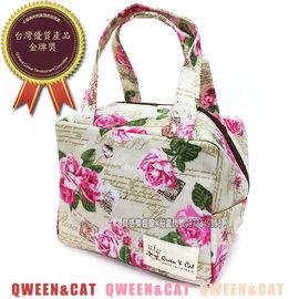 ~貝格美包館~ 方方便當包 米薔薇 皇后與貓 製防水包 便當袋 手提袋 可裝三色碗 台中市