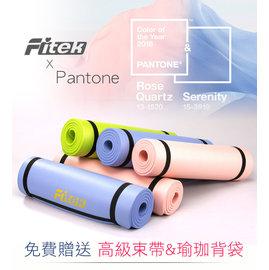 ~Fitek健身網~ ~NBR 瑜珈墊 10mm~2016新色上市~寧靜藍 石英粉 蜂蜜綠