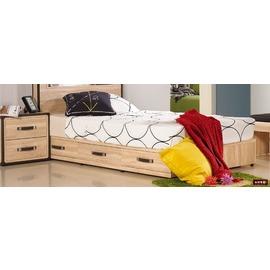 ~台北家福~^(FC040~5^)溫莎3.5尺橡木紋單人三抽床底傢具