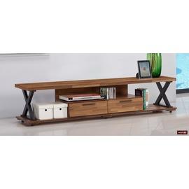 ~台北家福~^(FC213~2^)羅馬6尺柚木色二抽長櫃 電視櫃傢具