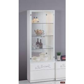 ~台北家福~^(FC219~1^)賈桂琳2尺白色展示櫃傢具