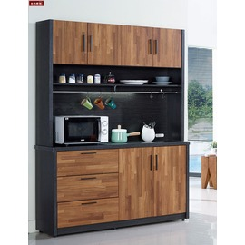 ~台北家福~^(FC409~2^)尚恩5尺雙色碗盤櫃 餐櫃下座傢具