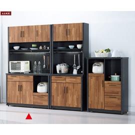 ~台北家福~^(FC410~1^)尚恩4尺雙色碗盤櫃 餐櫃^(上 下^)傢具