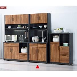 ~台北家福~^(FC410~3^)尚恩2.7尺雙色碗盤櫃 餐櫃^(上 下^)傢具