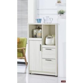 ~台北家福~^(FC413~3^)菲爾2.7尺雪山白收納櫃 餐櫃傢具