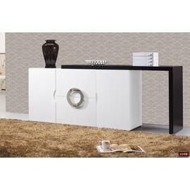~台北家福~^(FC418~1^)帕克5尺白色伸縮餐櫃 碗盤櫃傢具