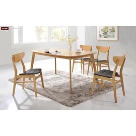 ~台北家福~^(FC459~1^)史迪奇5尺原木色橢圓餐桌傢具