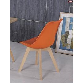 ~台北家福~^(FC488~9^)迪倫橘色皮餐椅傢具