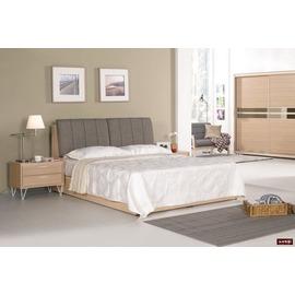 ~台北家福~^(FM043~2^) 梅維斯5尺白橡床頭箱式雙人床