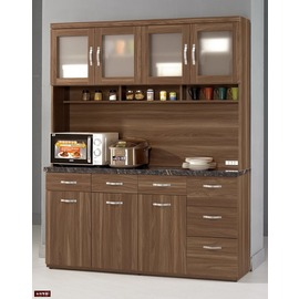 ~台北家福~^(FM393~1^) 羅納爾5.2尺石面收納櫃 碗盤櫃
