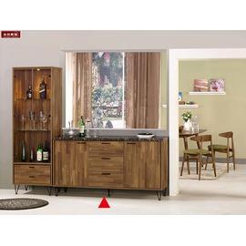 ~台北家福~^(FM397~1^) 洛爾納5.2尺石面收納櫃 碗盤櫃