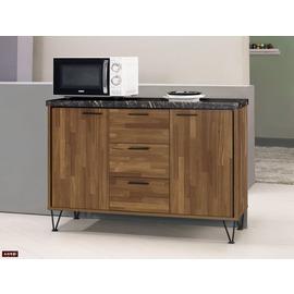~台北家福~^(FM397~2^) 洛爾納4尺石面收納櫃 碗盤櫃
